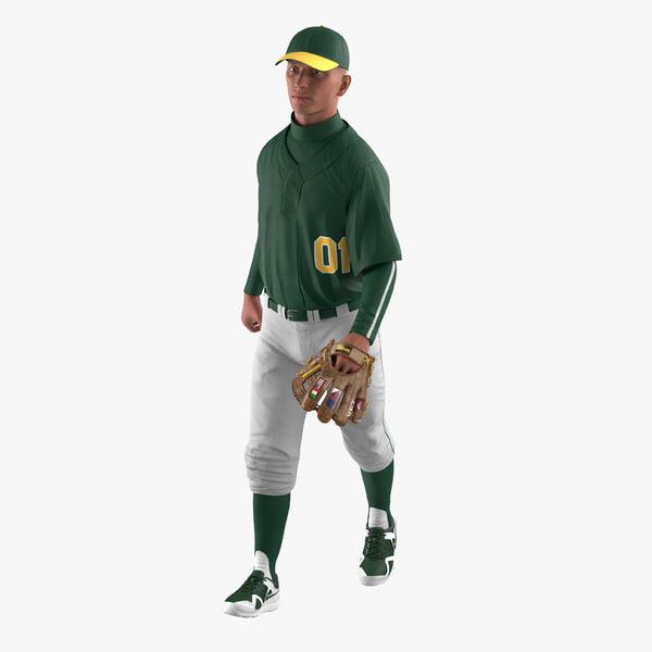 baseball player rigged generic 3d model