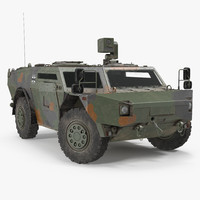 fennek german reconnaissance vehicle 3d model
