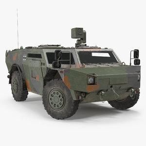 fennek german reconnaissance vehicle 3d model