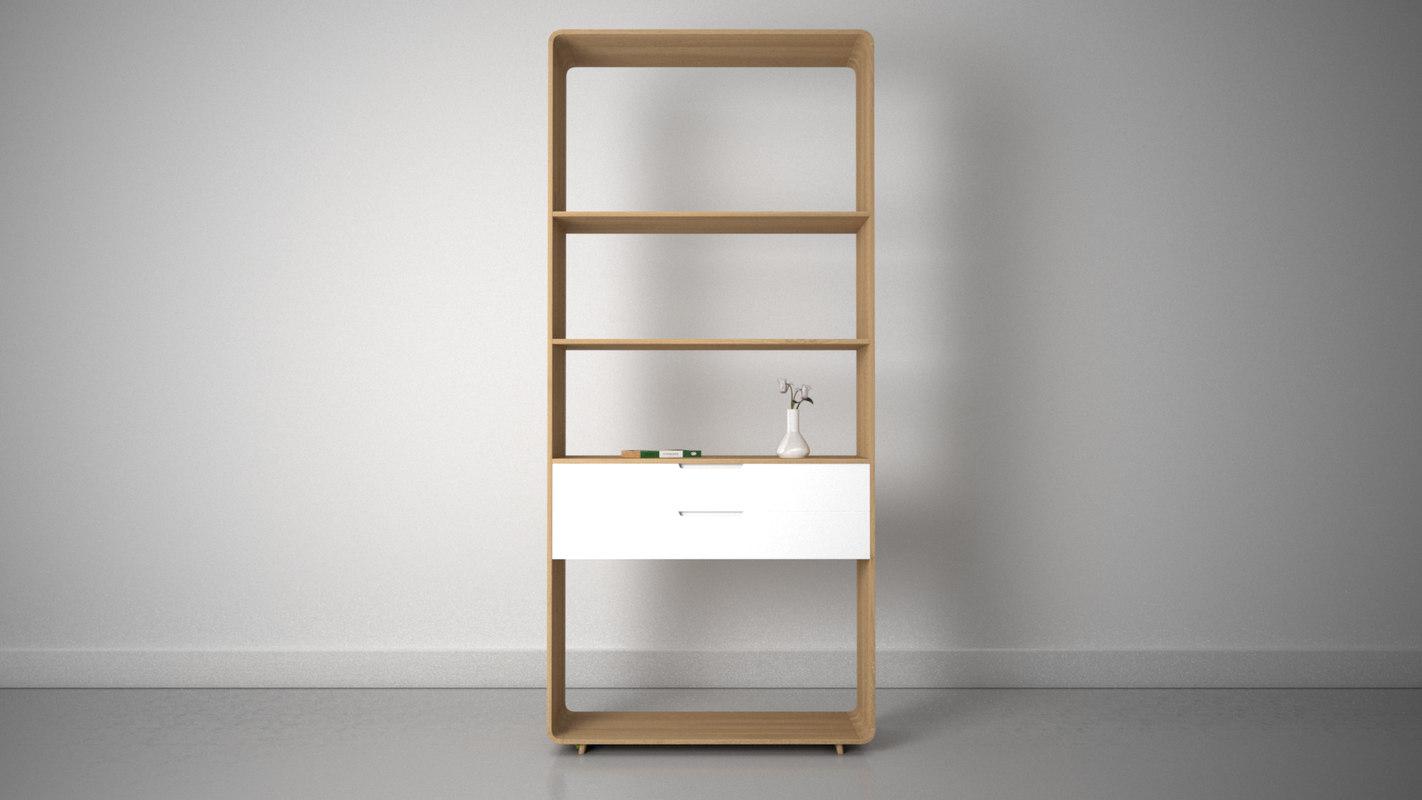 ebbe mira 2 drawer 3d model