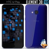 3d model htc u play element