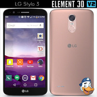 lg stylo 3 element 3d model