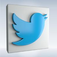 3d model social icon twitter
