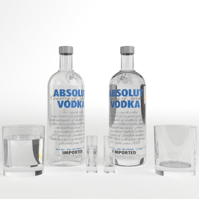 absolut vodka bottle glasses max