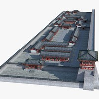 chinese architectural ancient 3d max
