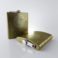 3d model of old army flask