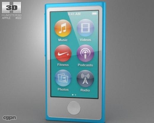 ipod apple nano 3d 3ds