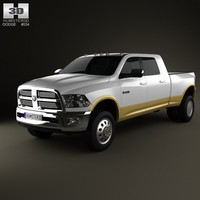 Dodge Ram 3500 Mega Cab Dually Laramie 6-foot 4-inch Box 2012