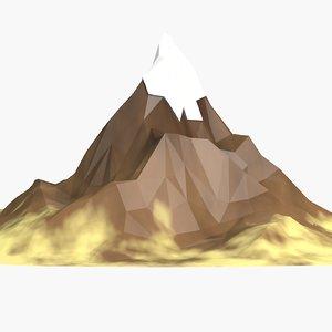 cartoon mountain 3d model