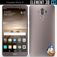 huawei mate 9 element 3d 3ds