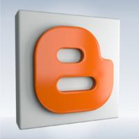 social icon blogger 3d model