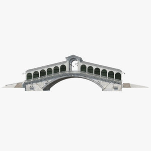rialto bridge venice 3d model