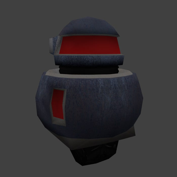 3d model of robot cartoon