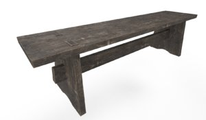 free 3ds model medieval bench