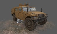 Low poly Renault Sherpa 2