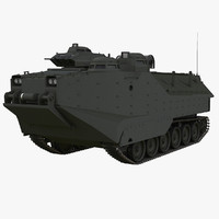 assault amphibious vehicle 3d max