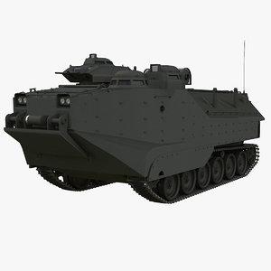 assault amphibious vehicle 3d max