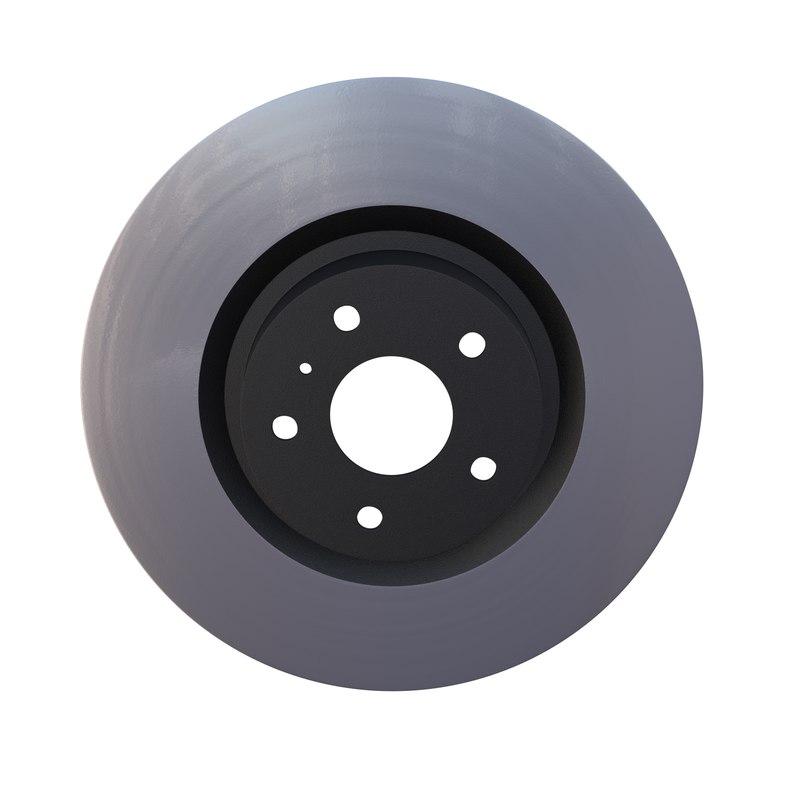 3d model ventilated brake disk