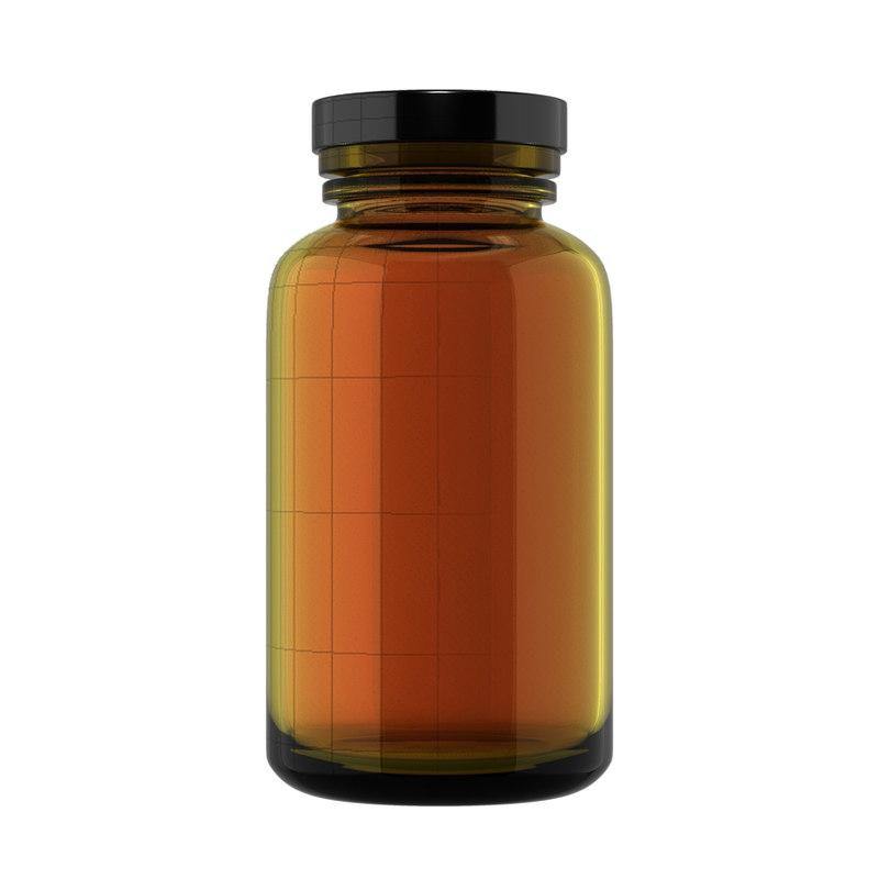 bottle supplement vitamin 3d obj