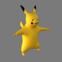 3d model pokemon pikachu