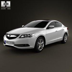 acura ilx 2013 3d model