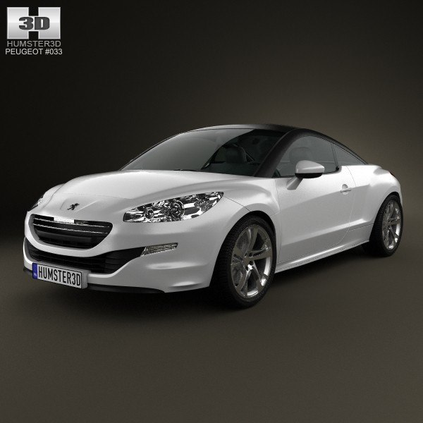 3d coupe peugeot rcz model