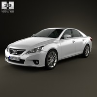toyota mark x 3d model