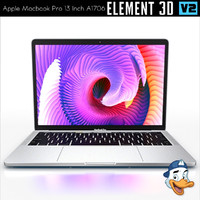 apple macbook pro 13 3d model