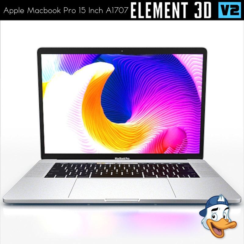 3d model apple macbook pro 15