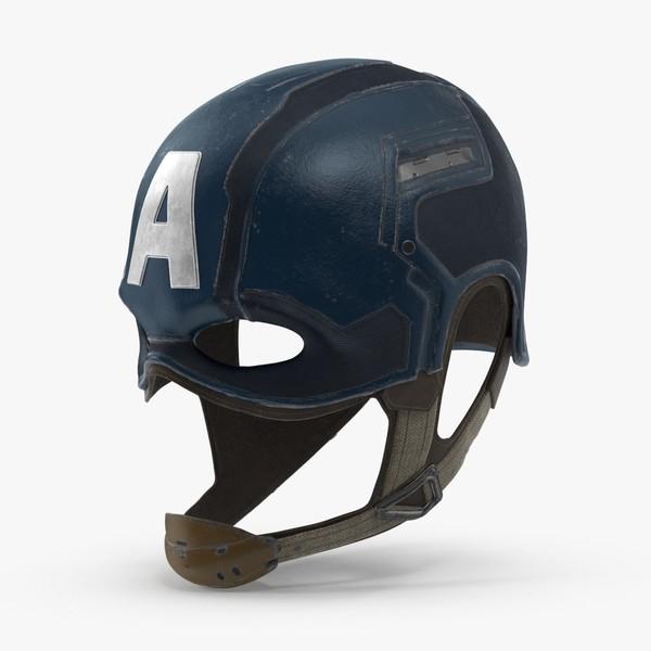 3d captain-america-cowl model