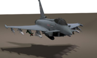 3d model eurofighter fighter plane