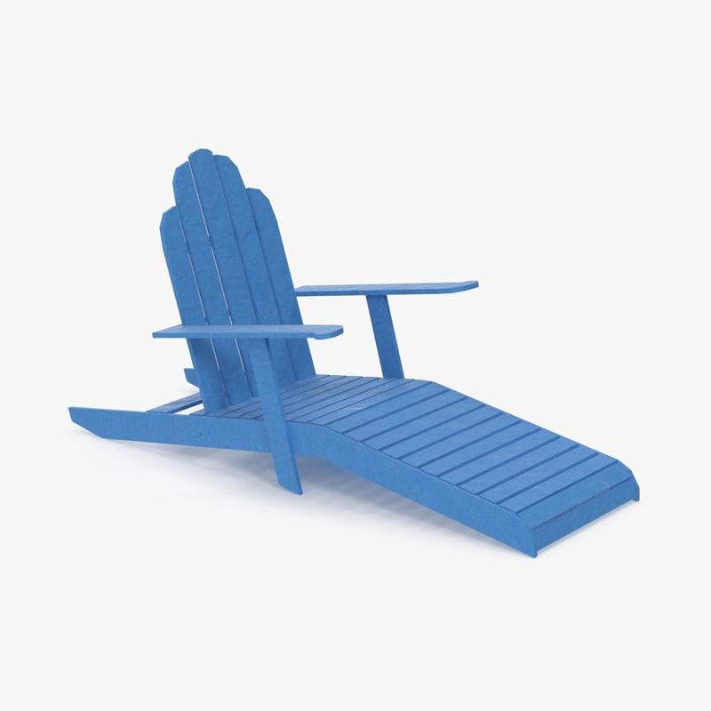 sun bathing chair 3d max