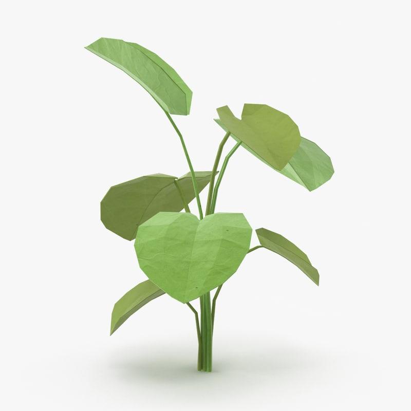 tropical plant 02 3d max