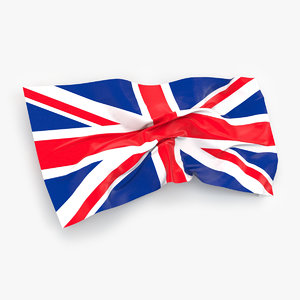 great britain flag 3d max