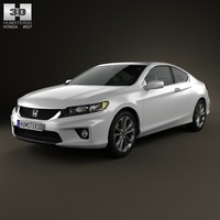 coupe honda accord 3d model