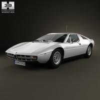 3d model maserati merak 1972