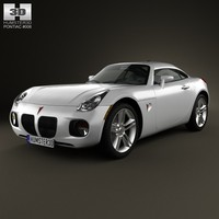 coupe pontiac solstice 3d model