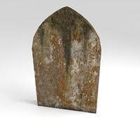 stone gravestone grave 3d 3ds