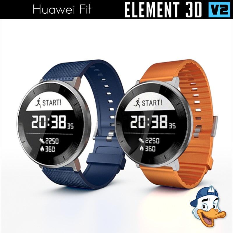 3d huawei fit element