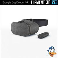 3d google daydream vr element