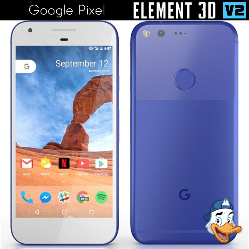 3d model google pixel element
