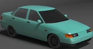 lada 2110 sedan 3d model
