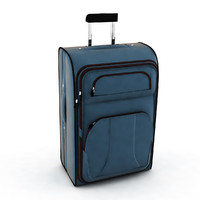 hand suitcase travel 3d model