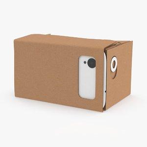 3d model google cardboard headset