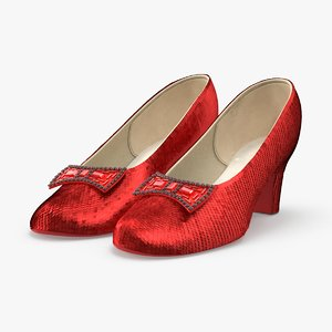 3d model ruby sparkle slipper