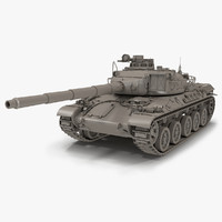 3d model french tank amx-30b