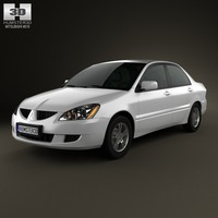 3d sedan mitsubishi ralliart model