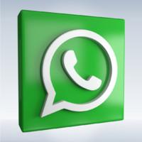 social icon whatsapp obj