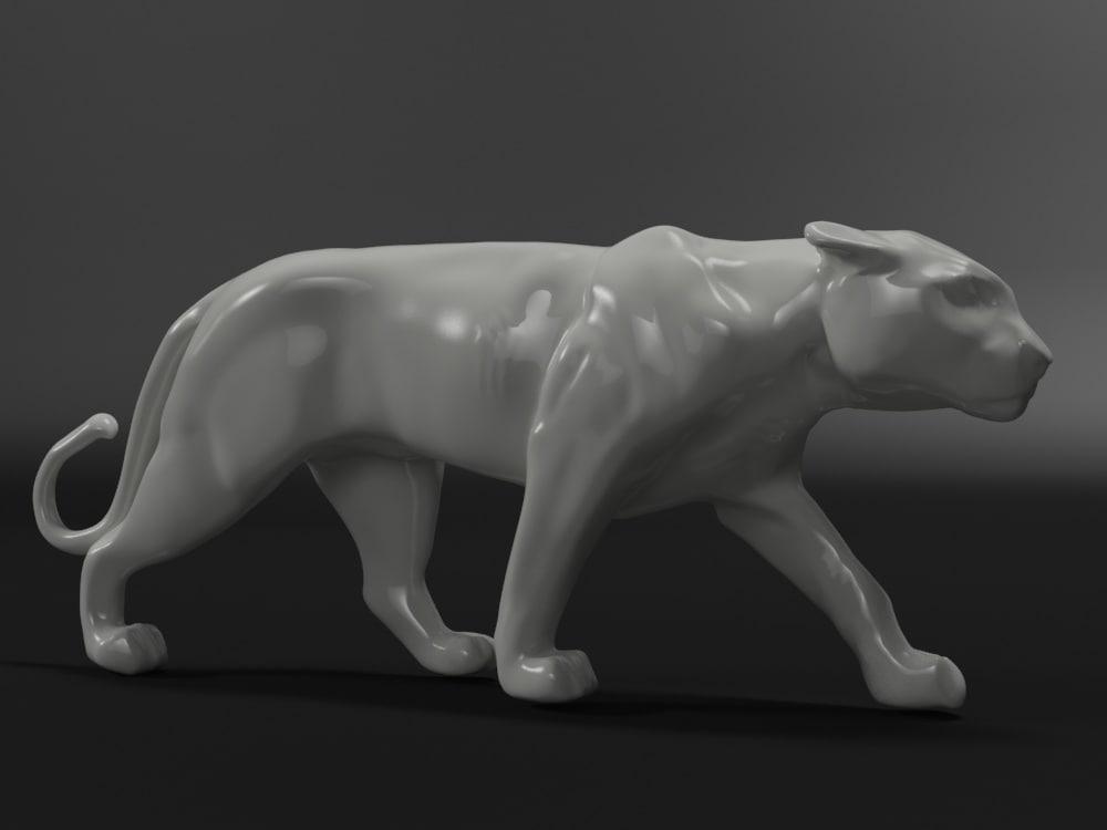 3d model panther ceramics