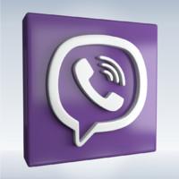 social icon viber 3d model